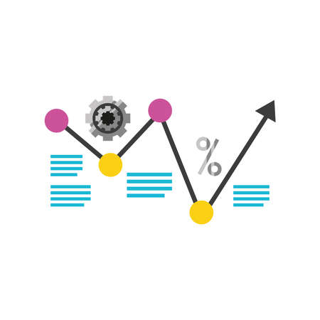 data analytics financial business strategy detailed vector illustration