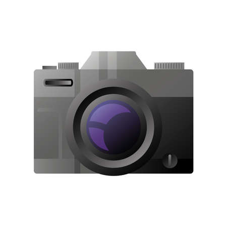 photo camera device lens isolated vector illustration detailed style