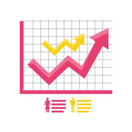 data analysis target population social research process detailed vector illustration Çizim