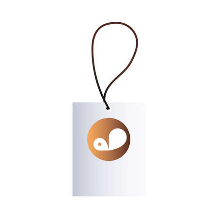 hang tags with brand corporation vector illustration design