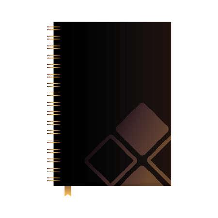 brand bound notebook for business vector illustration design Illustration