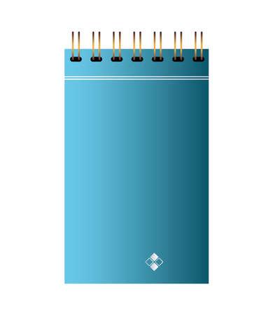 notebook of branding color blue vector illustration design