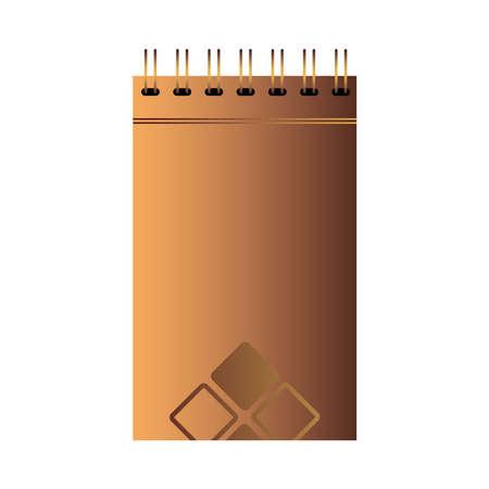 Presentation of notebook branding with logo vector illustration design Illustration