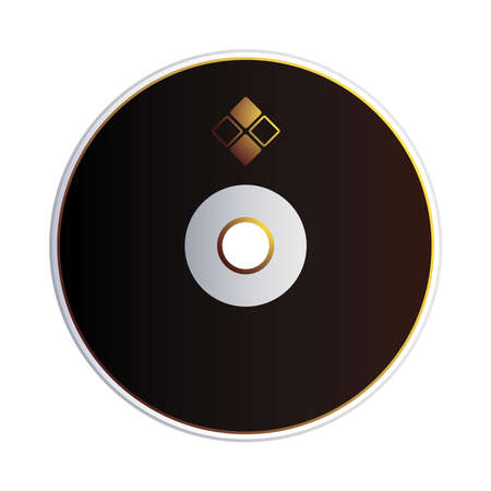 cover and cd with corporate identity vector illustration design 向量圖像