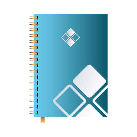 notebook with desing brand logo vector illustration design