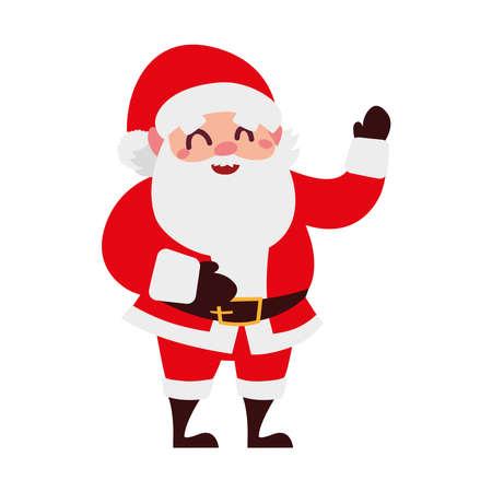 christmas santa claus funny cartoon character vector illustration