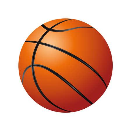 basketball ball sport equiment detailed design icon vector illustration