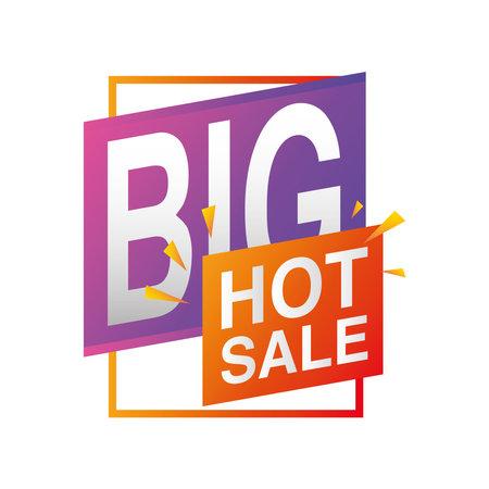 special offer season, big hot sale promotion vector illustration