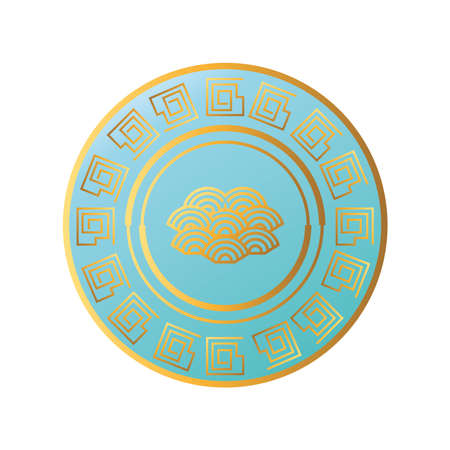 Chinese cloud in seal stamp design, China culture asia and oriental theme Vector illustration