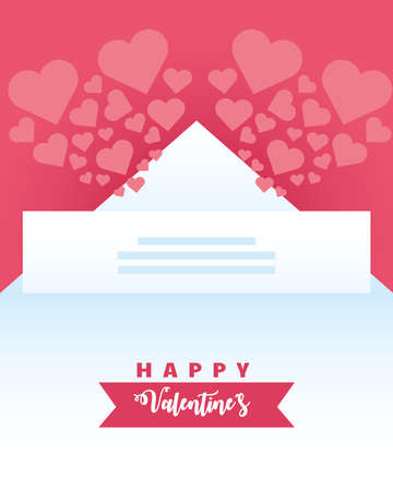 happy valentines day greeting card hearts love romantic vector illustration 일러스트