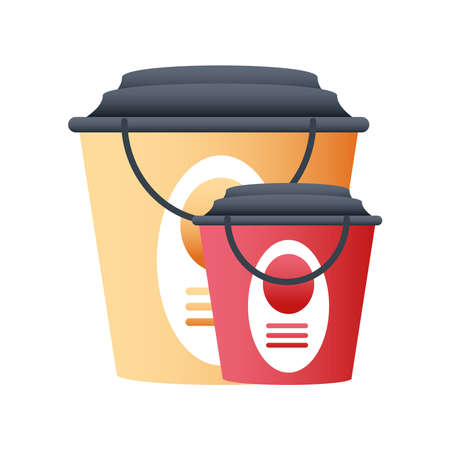 home remodeling paint buckets tools icon design vector illustration