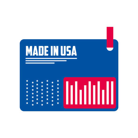 Made in usa card design, American quality business and national theme Vector illustration