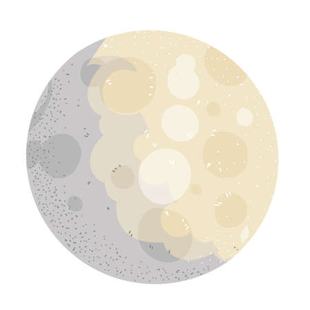 space moon galaxy system solar icon vector vector illustration