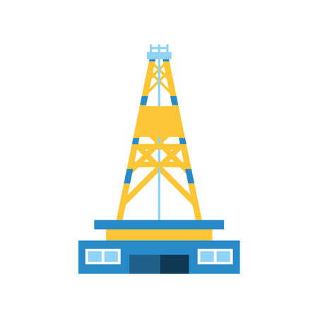 fracking drilling oil industry extraction vector illustration