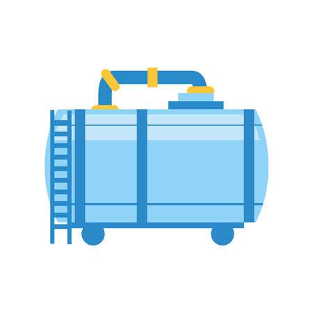 fracking refinery plant storage tank vector illustration