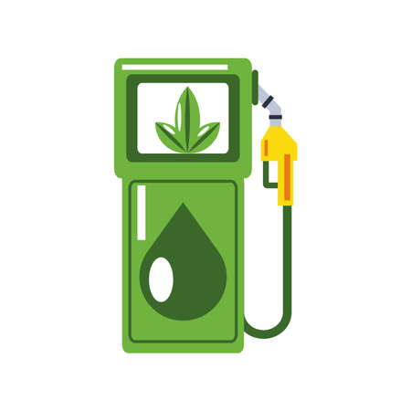 renewable energy green eco electric fuel pump vector illustration