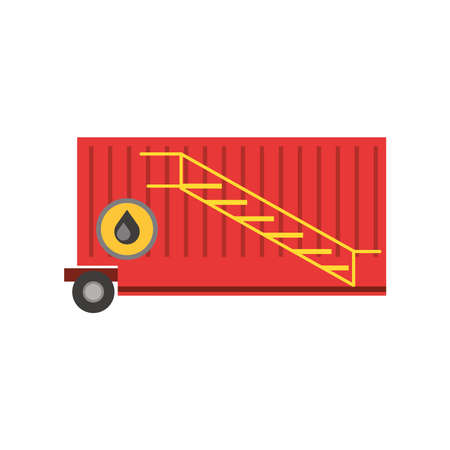fracking container storage with ladders vector illustration
