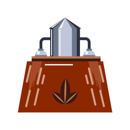 factory which using alternative renewable energy vector illustration