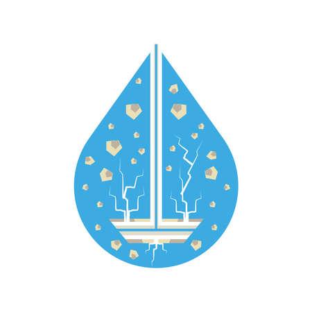 fracking hydraulic exploration technology industry vector illustration