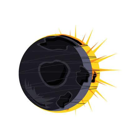 space solar eclipse natural astronomical phenomenon vector illustration