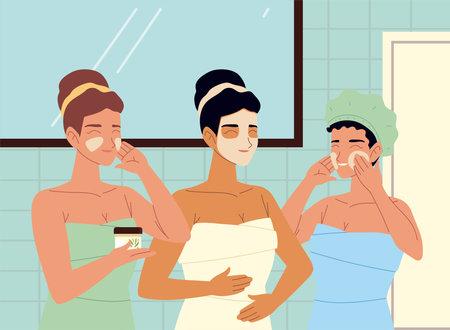 women procedures self face skincare