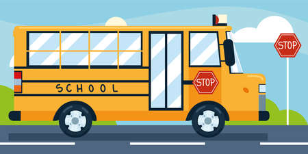 school bus stop city transport
