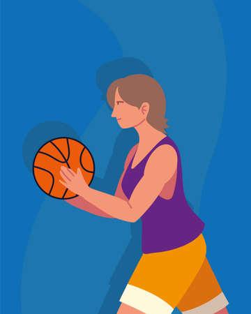 woman player basketball sport activity