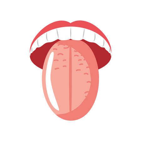 human tongue organ icon isolated Vector Illustration