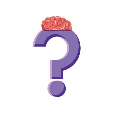 question mark brain human organ