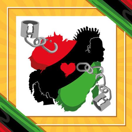 juneteenth black people map broken chains