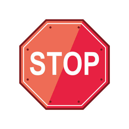 stop traffic sign isolated design Vector Illustration