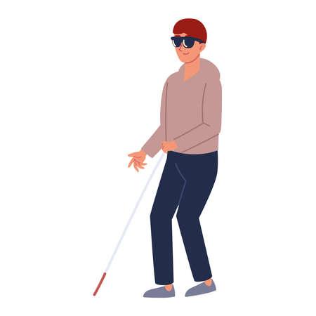 blind disabled man