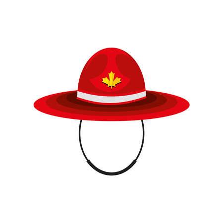 canadian red hat Vektorové ilustrace