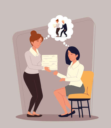 workplace harassment related Ilustracje wektorowe