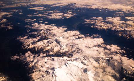 overt: Alps snowcapped peaks Stock Photo