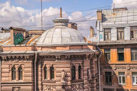 st  petersburg: Rooftops historic center St. Petersburg.