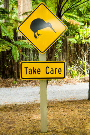 Kiwi road sign in New Zealand