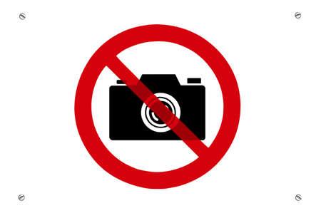 interdiction: Aucun signe de prohibition de photos avec vis