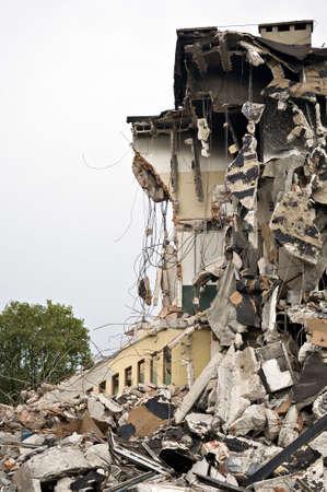 destroyed: Zerst�rte Geb�ude, k�nnen als Abriss, Erdbeben, Bombe, Terroranschlag oder Naturkatastrophe Konzept verwendet werden. Serie