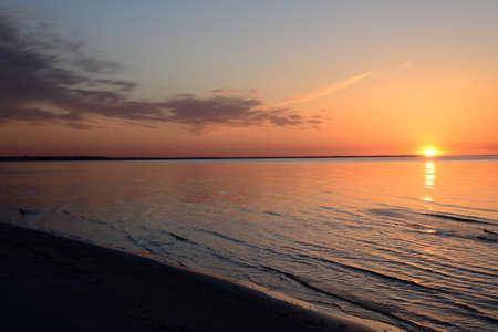 jurmala: Sunset in Jurmala, Latvia