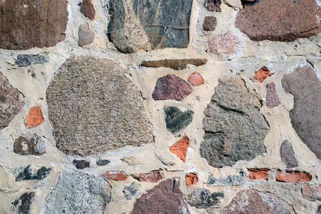 gravelly: colourful stone wall texture