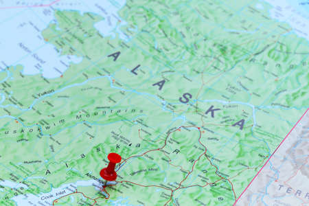 anchorage: Anchorage pinned on a map of America