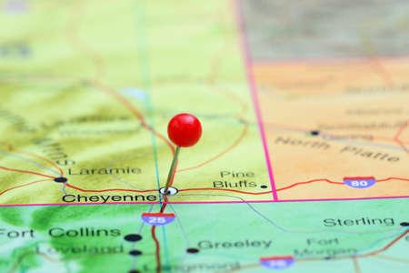 cheyenne: Cheyenne pinned on a map of USA