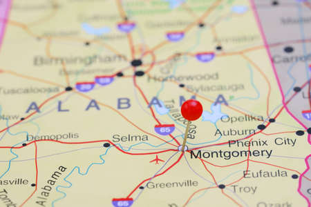 montgomery: Montgomery pinned on a map of USA
