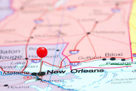 New Orleans Map Stock Photos Royalty Free New Orleans Map Images - New orleans in map of usa
