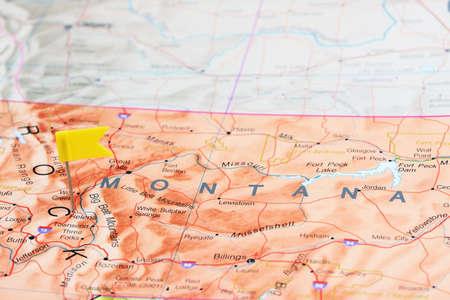 helena: Helena pinned on a map of USA