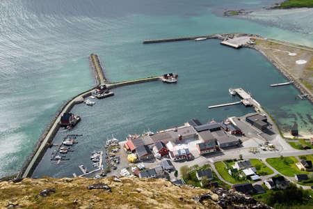 birdseye: birds-eye view on a camping, Lofoten Islands