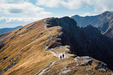path ways: Placlive peak at Tatra mountains