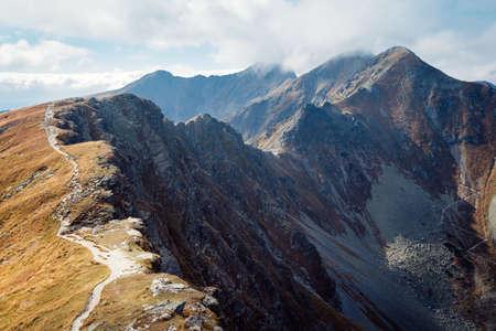 Tatra 산에서 Placlive 피크
