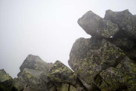 boulders: boulders in the fog, Tatras